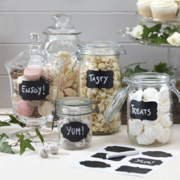 Jar Labels & 2 Sticks of White Chalk,